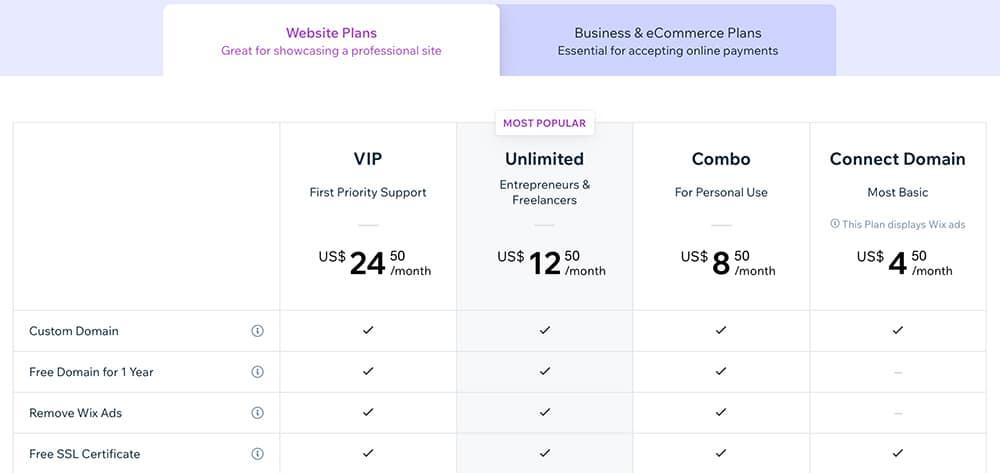 תכנית תשלום חודשי ב-Wix