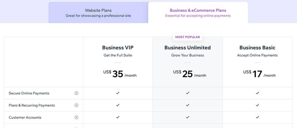 תכנית תשלום חודשי לאתרי קניות ב-Wix