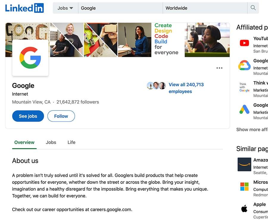 גוגל בלינקדאין